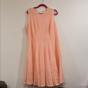 Leopard Print Peach Cut Out Dress
